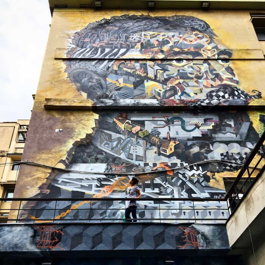 Bucharest Street Art Ion Mincu Obie