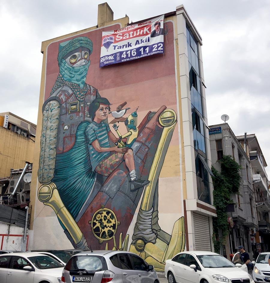 Istanbul Kadikoy Street Art PixelPancho