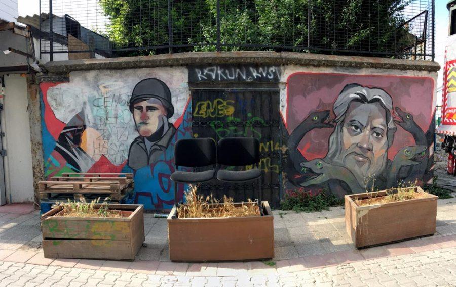 Istanbul Kadikoy Street Art Soldier Snakes