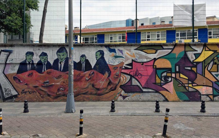 Istanbul Kadikoy Street Art Wall 2