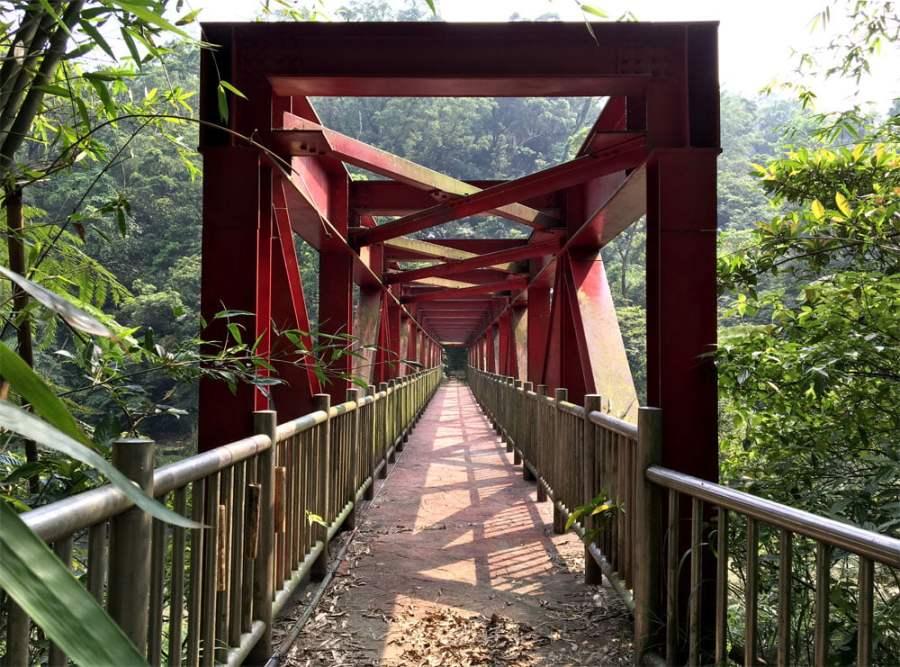 New Taipei Sandiaoling Red Bridge