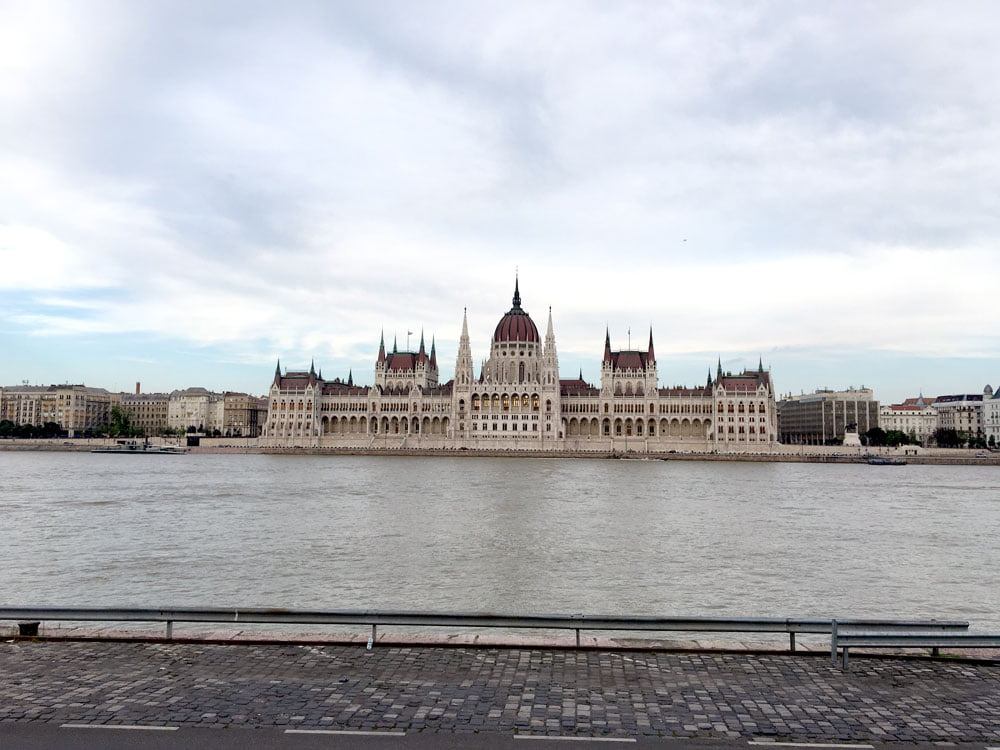 Budapest Parliament House River Grey Day