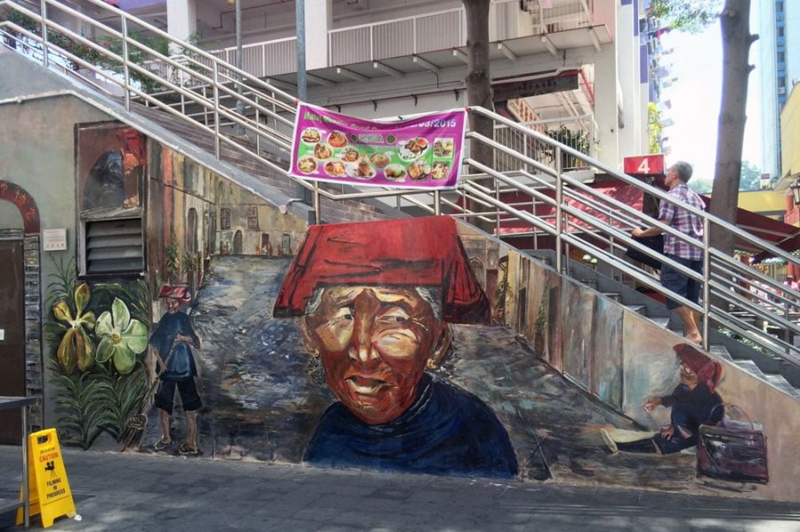 Singapore Street Art Banda Road Samsui Stairs