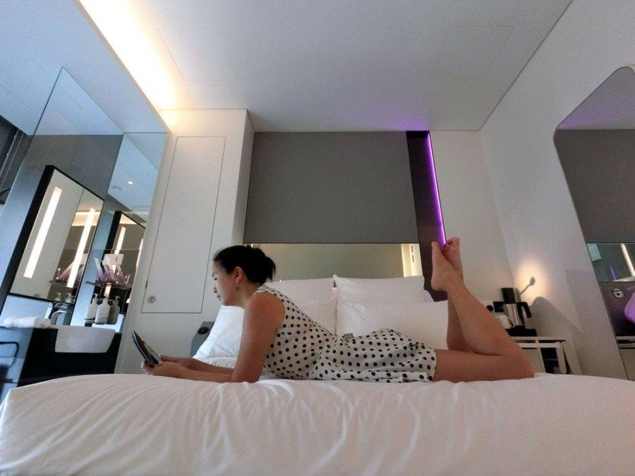 Yotel Singapore Room Lying Down Me
