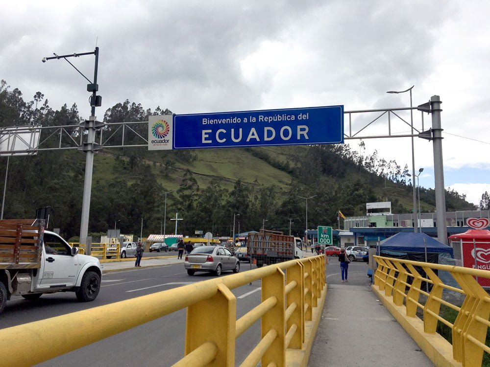 Colombia Rumichaca Border Bridge Ecuador