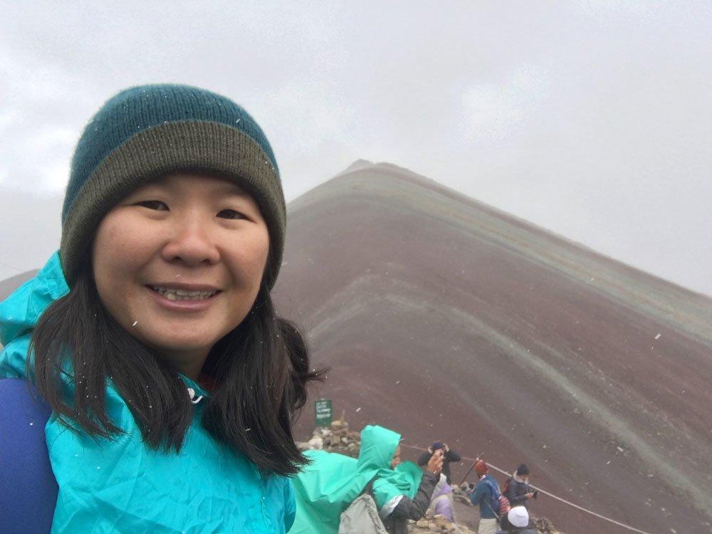 Peru Cusco Vinicunca Selfie Snow
