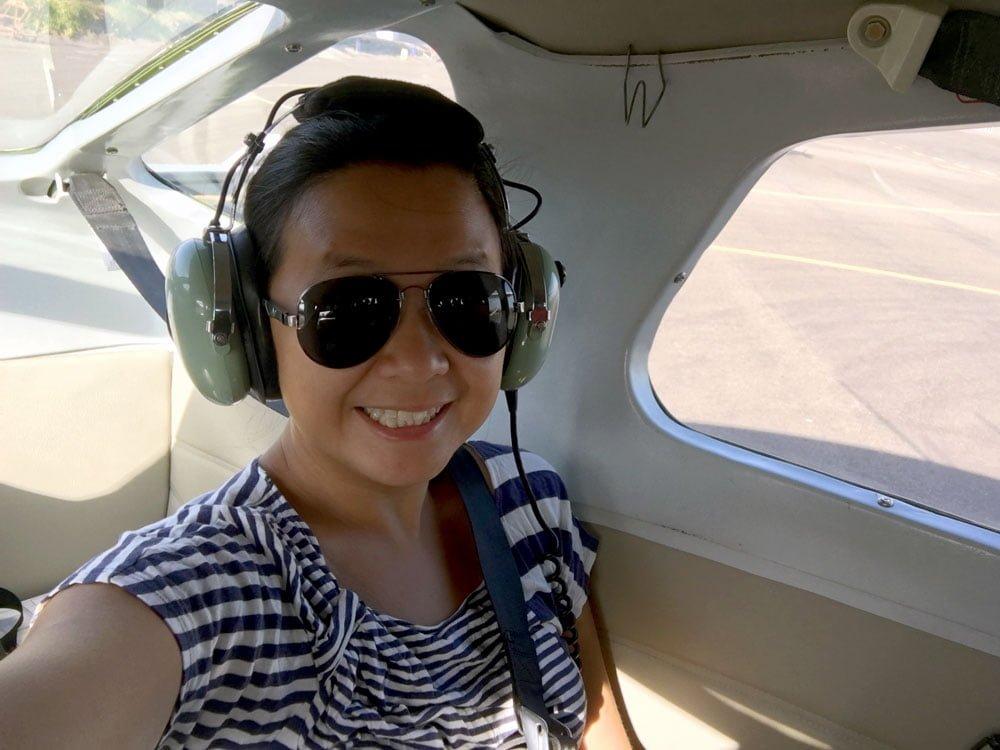 Peru Nazca Plane Selfie