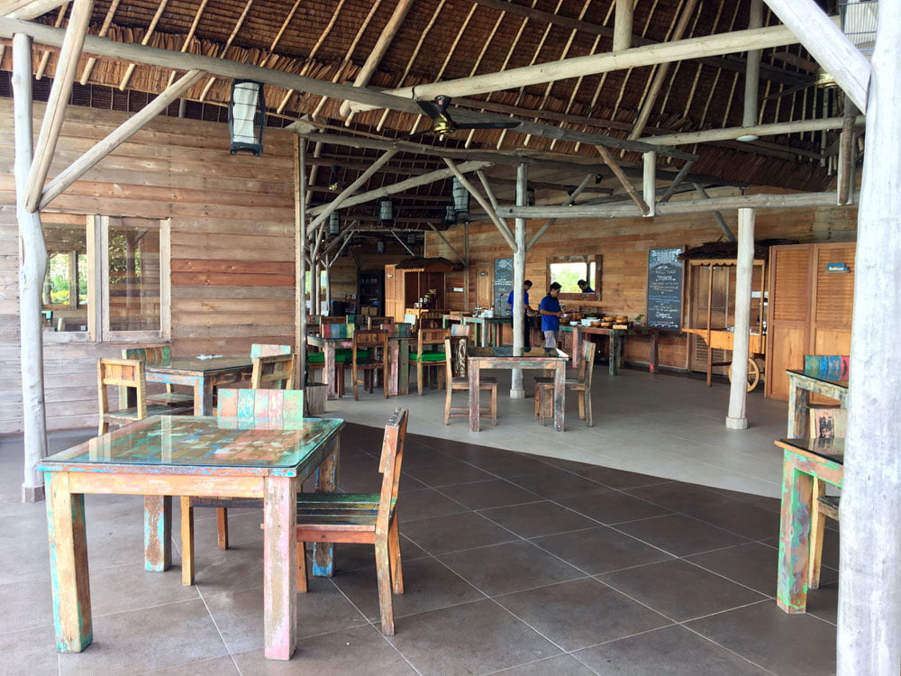 Telunas Private Island Dining Area