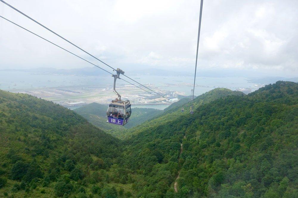 Hong Kong Lantau Ngong Ping Cable Car View