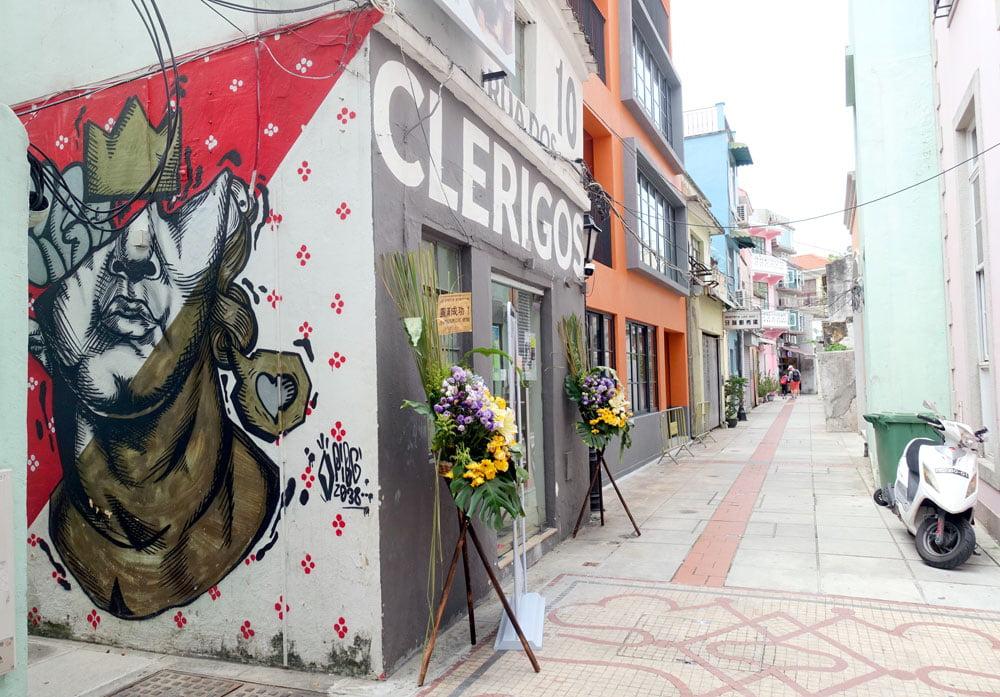 Macao Street Art Taipa PIBG Clerigos