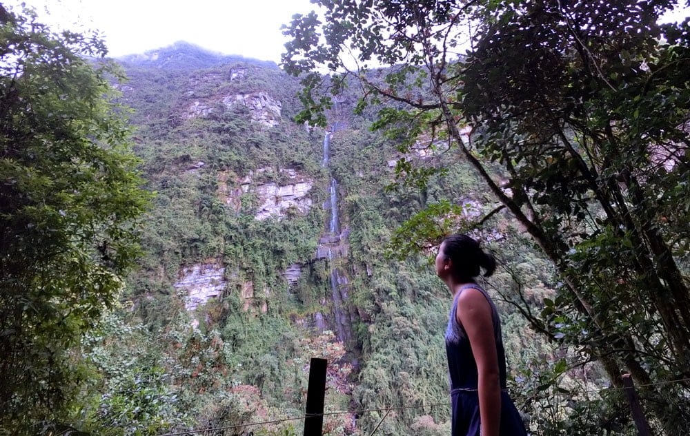 Colombia La Chorrera Waterfall Me