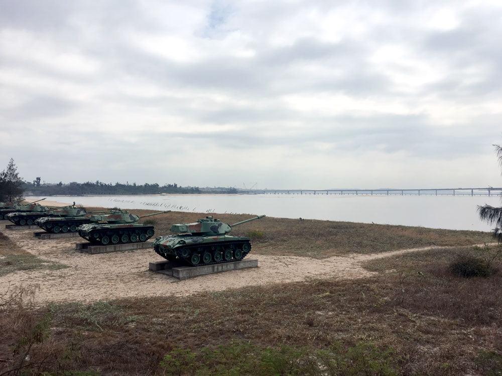 Kinmen Triangle Fort Beach Tanks