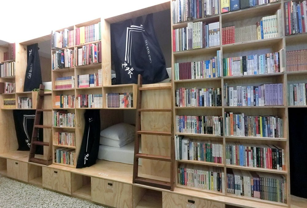 Tainan Caoji Book Inn Bunks Shelves