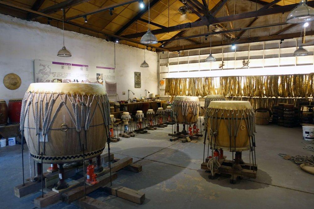 Tainan Rende Ten Drum Cultural Park Drums