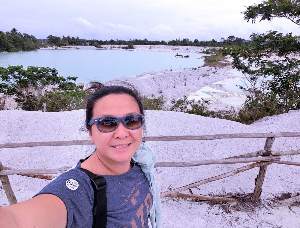 Belitung Kaolin Lake Selfie