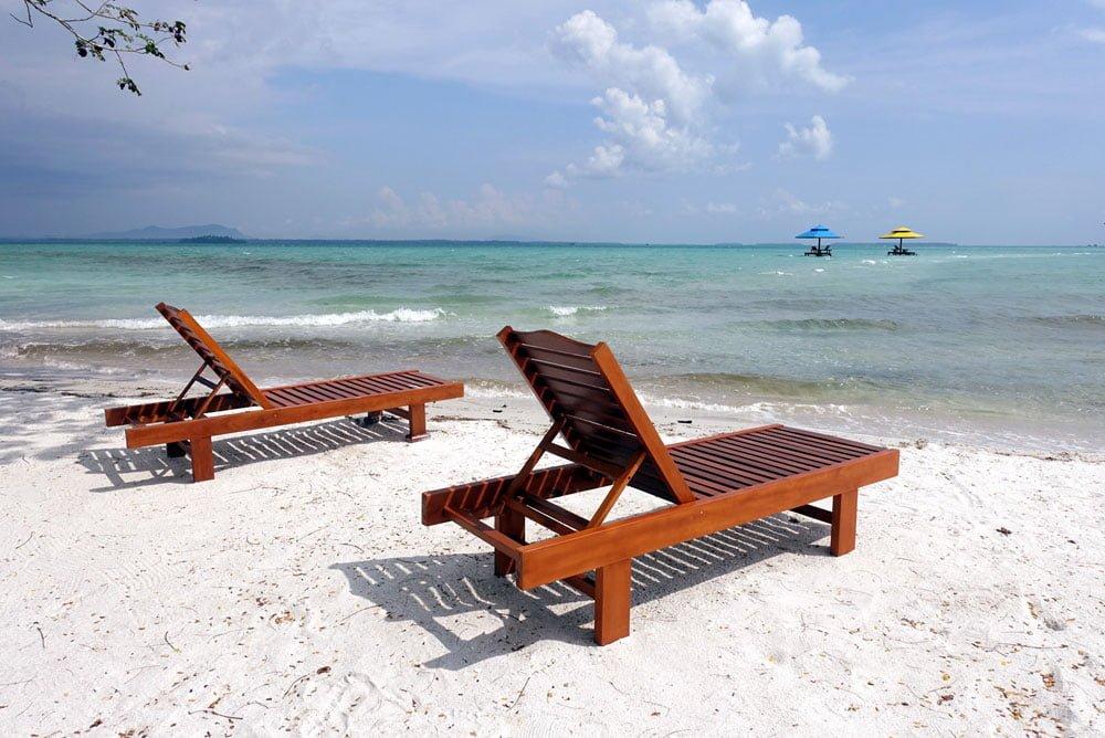 Belitung Leebong Island Deckchairs
