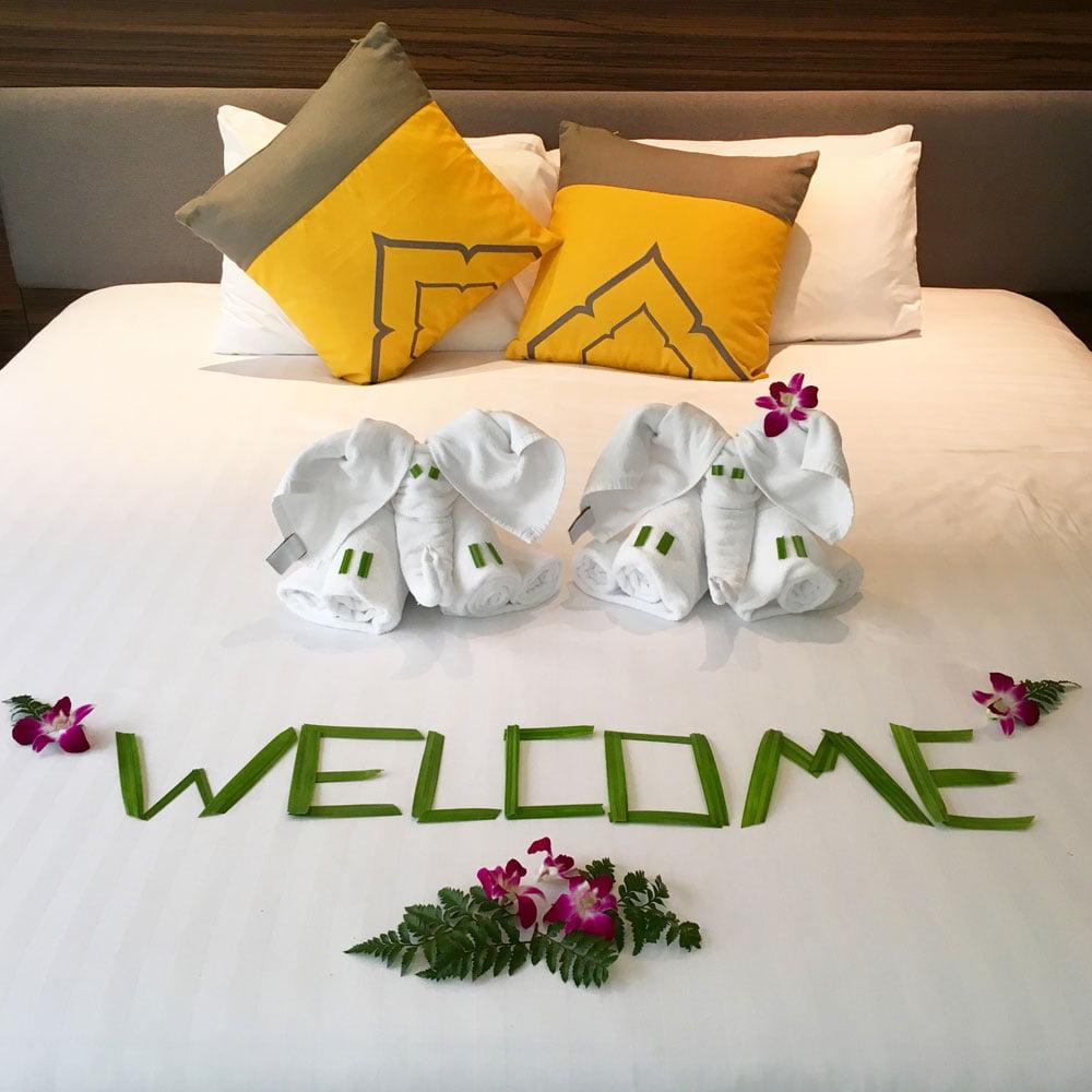 Novotel Phuket Karon Room Bed Welcome