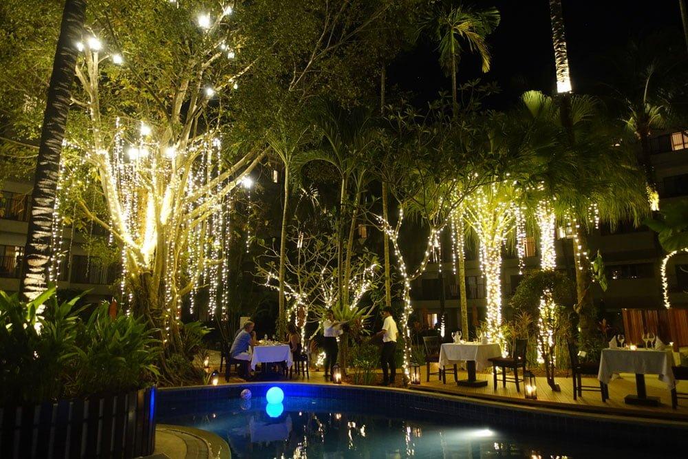 Novotel Phuket Surin Pool Restaurant Night