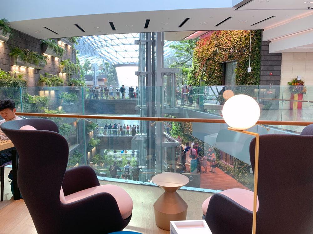 YotelAir Jewel Lounge View