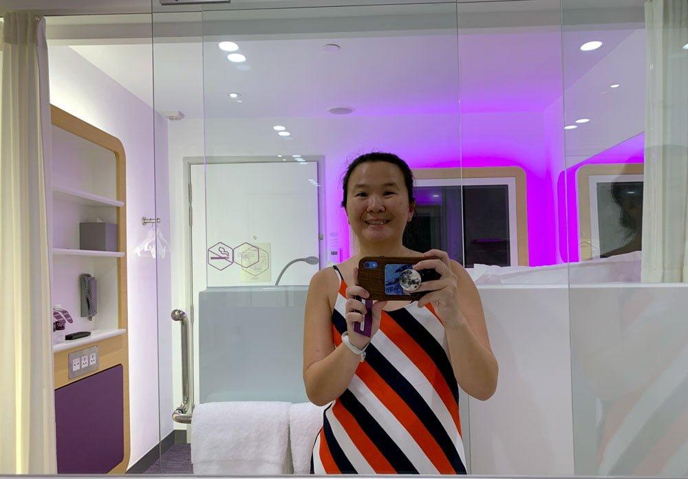YotelAir Jewel Queen Room Toilet Selfie