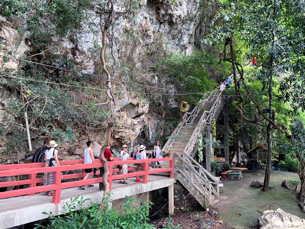 Laos Thakhek Tham Pa Fa Buddha Cave Stairs