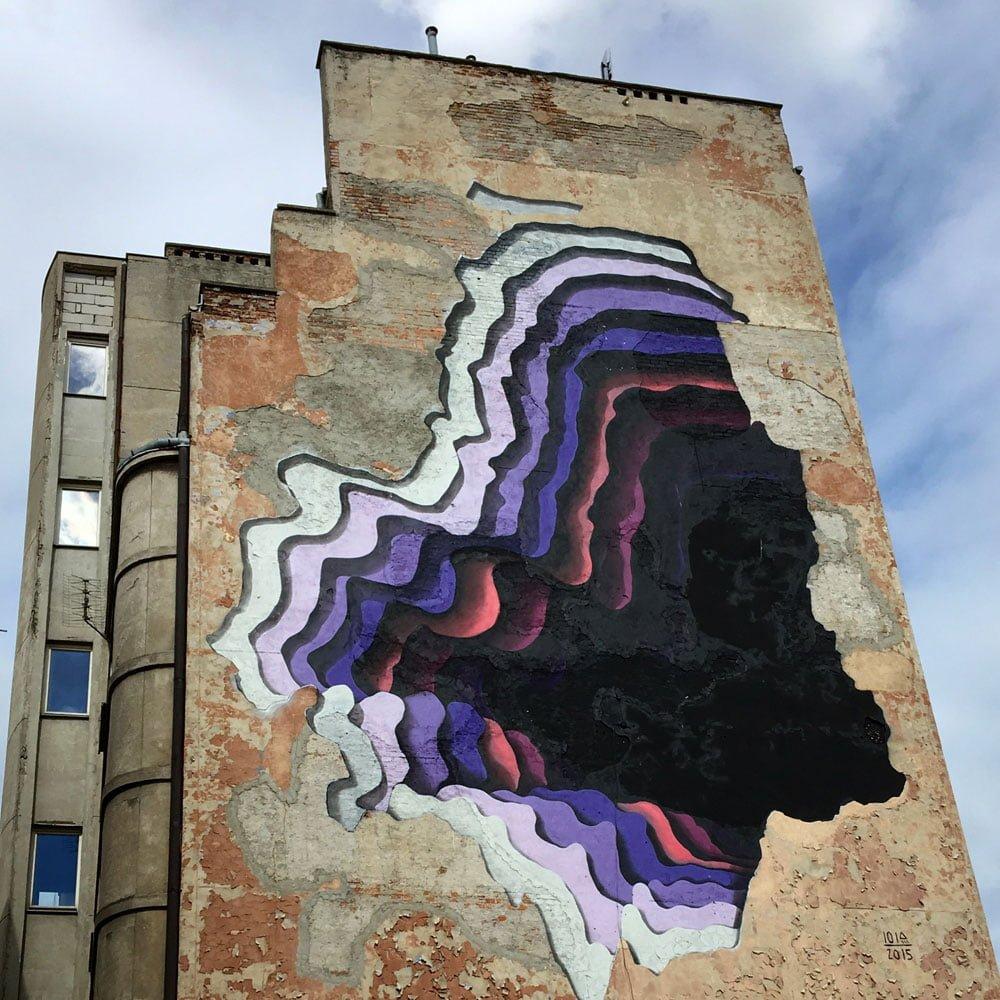 Poland Warsaw Street Art 1010 Dziura