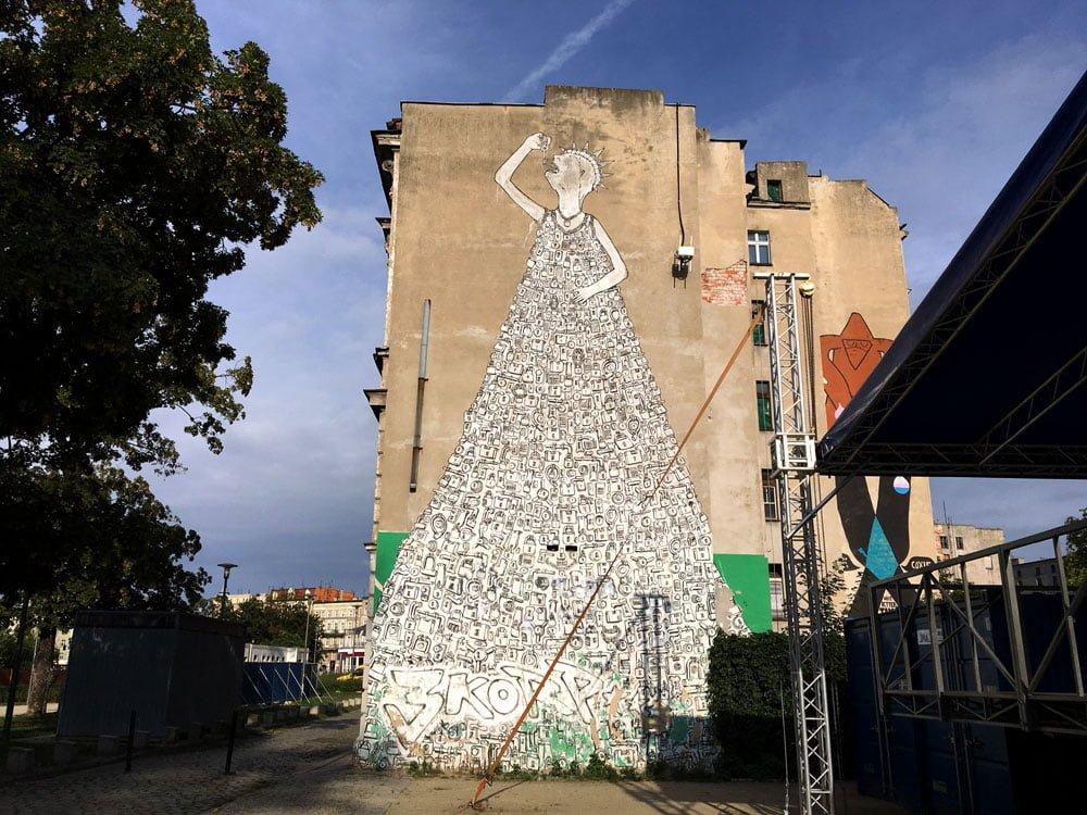 Poland Wroclaw Street Art Blu Liberty