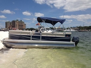 how to beach pontoon boat