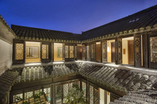 The interweaving of interior and exterior spaces is drawn from various cultural influences from Asian and Western courtyards and colonnades.