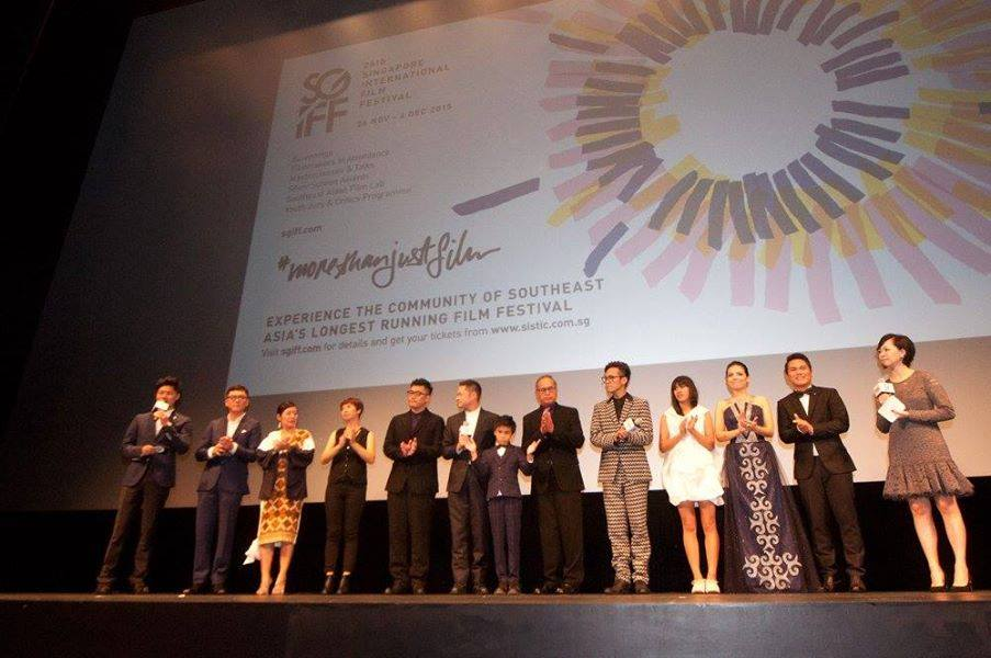 The directors and cast of Panay (太陽的孩子 Wawa No Cidal) onstage before the screening starts.