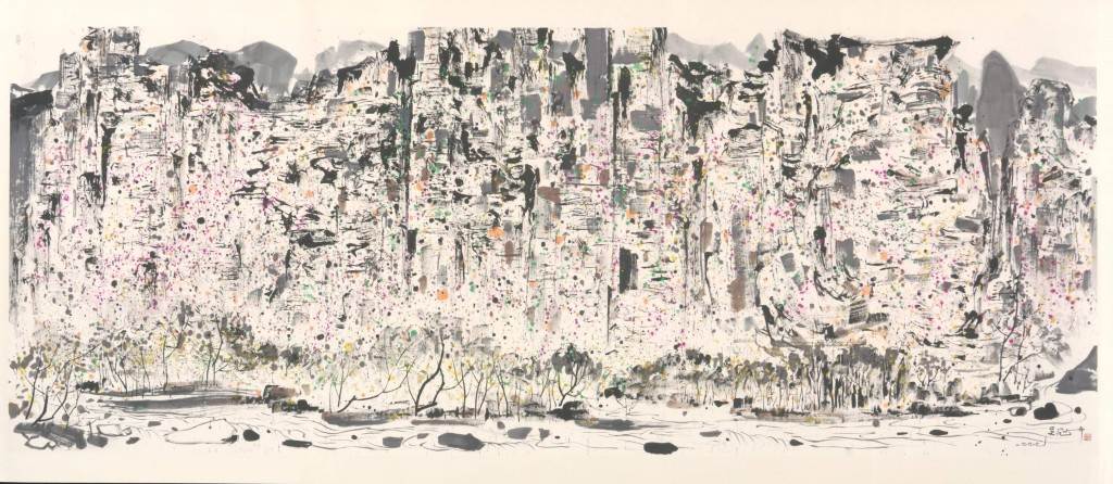Wu Guanzhong, Zhangjiajie (1997), photo credit to the National Gallery of Singapore
