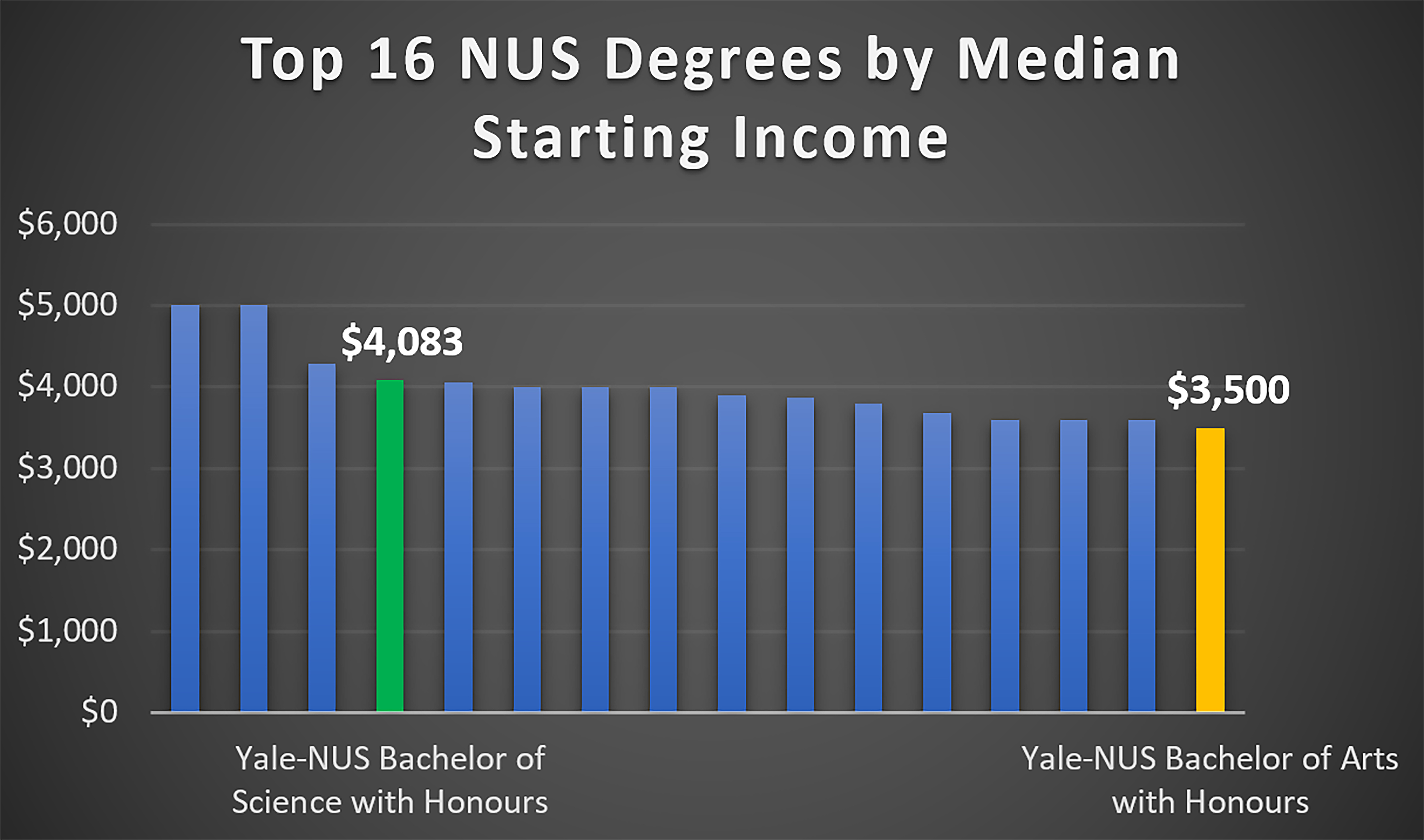 Graduation statistics from the first cohort of Yale-NUS graduates
