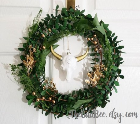 steer skull wreath