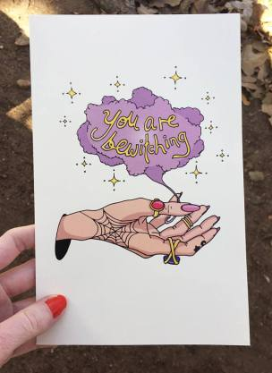 bewitching card