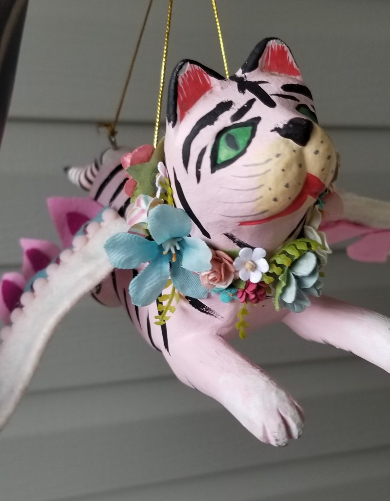 pink tiger flower wreath