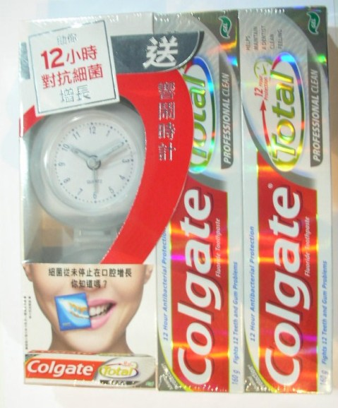 Colgate on pack