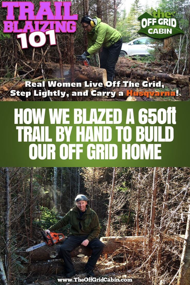 The-Off-Grid-cabin-How To DIY Trail-Blazing Pin