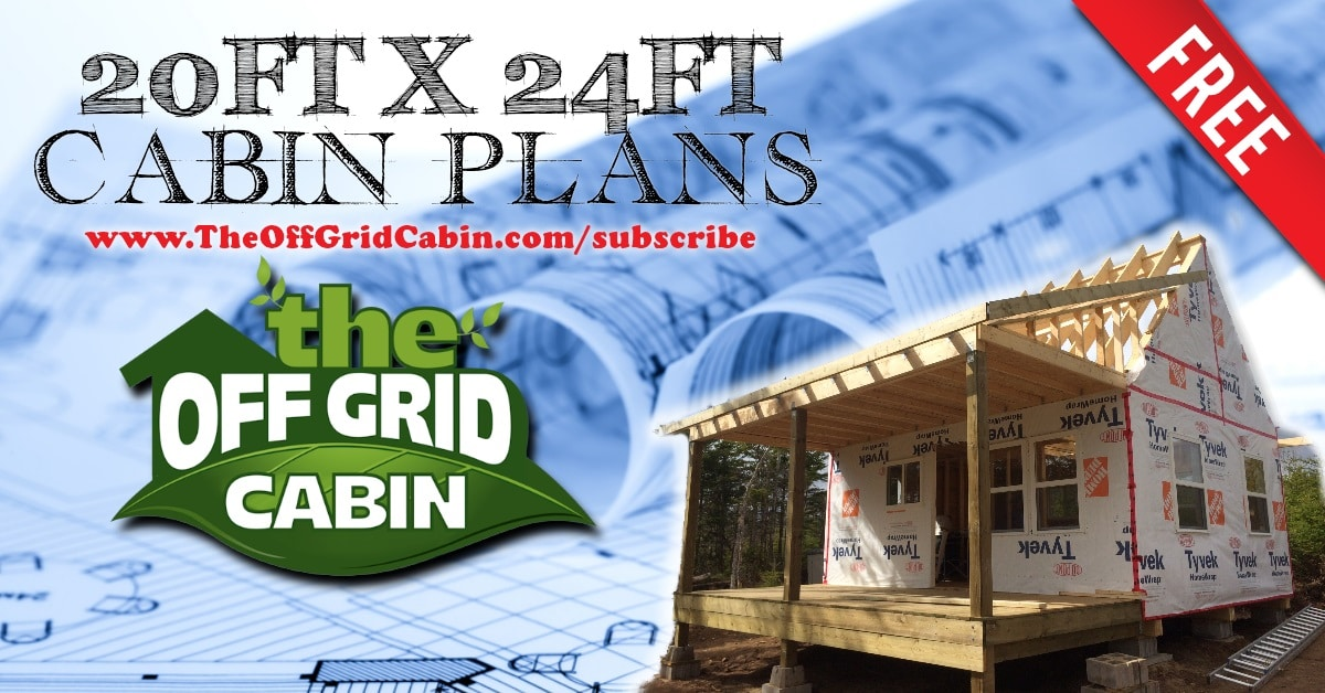 Perfect Floor Plan This 20ft X 24ft Off Grid Cabin Floor