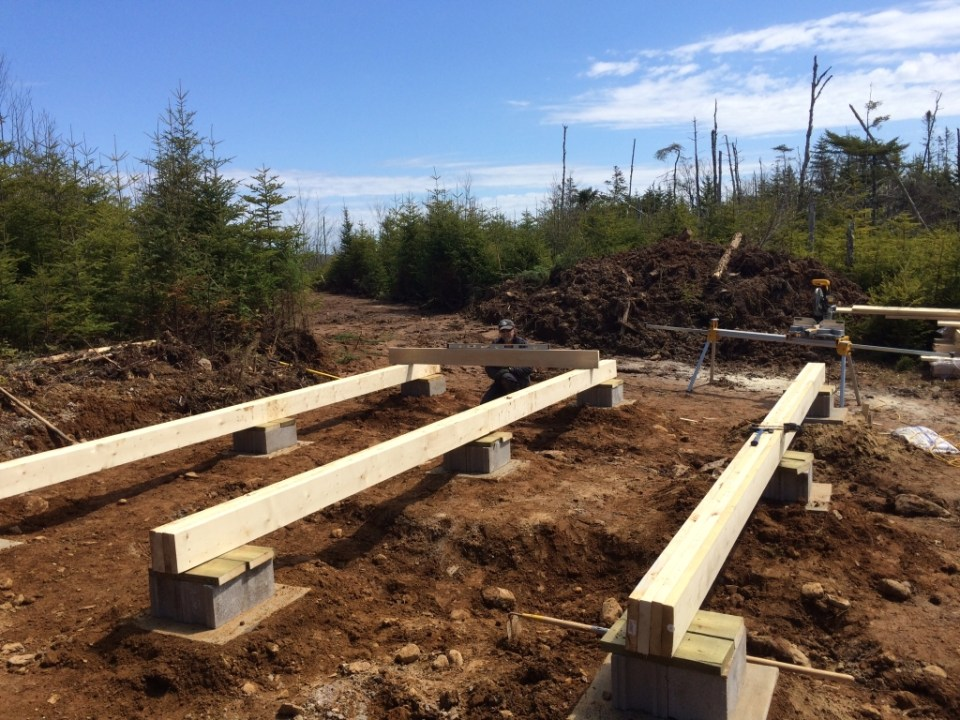 Completed Beams for off gric cabin foundation