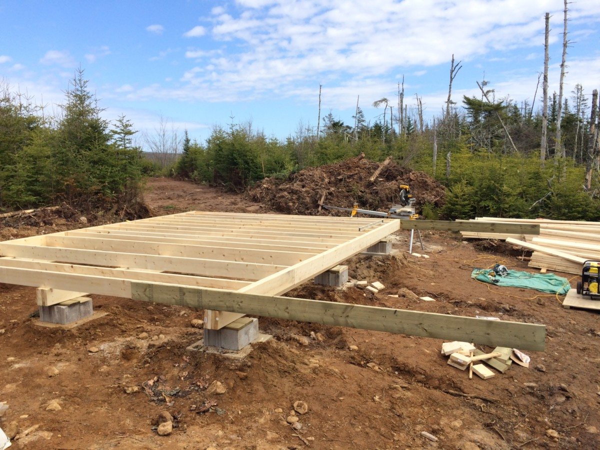 Captivating Floor Joist For Off Grid Cabin Done