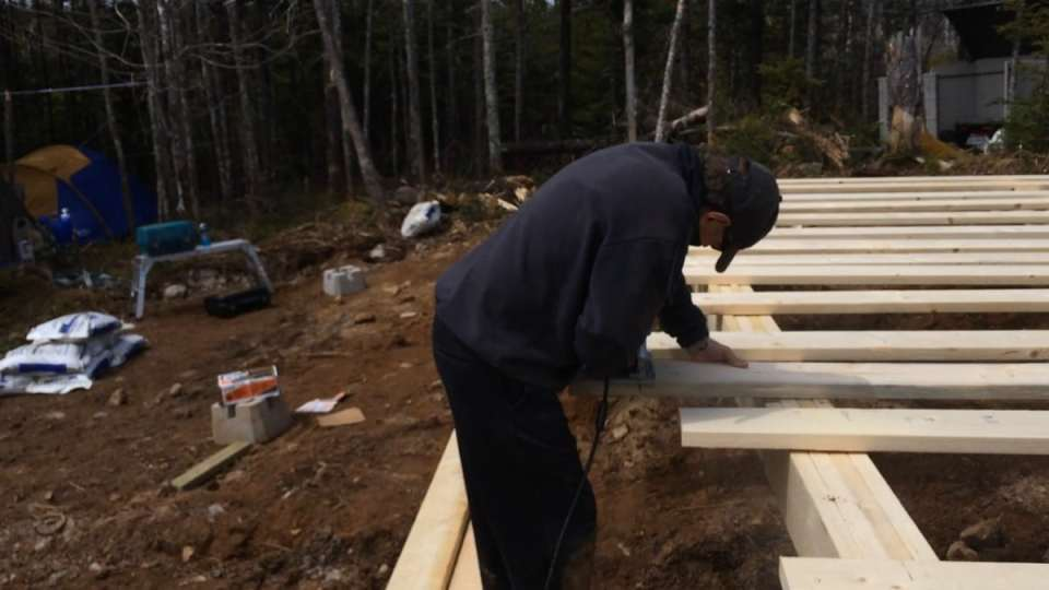 Getting the Floor joists all cut