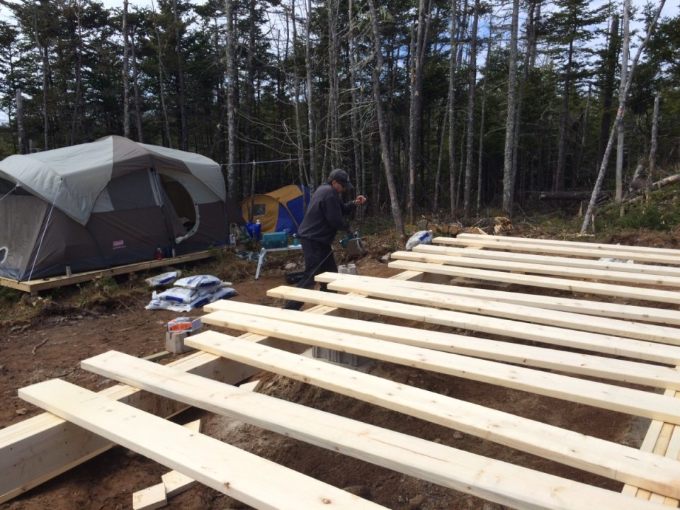 Laying out the floor joist