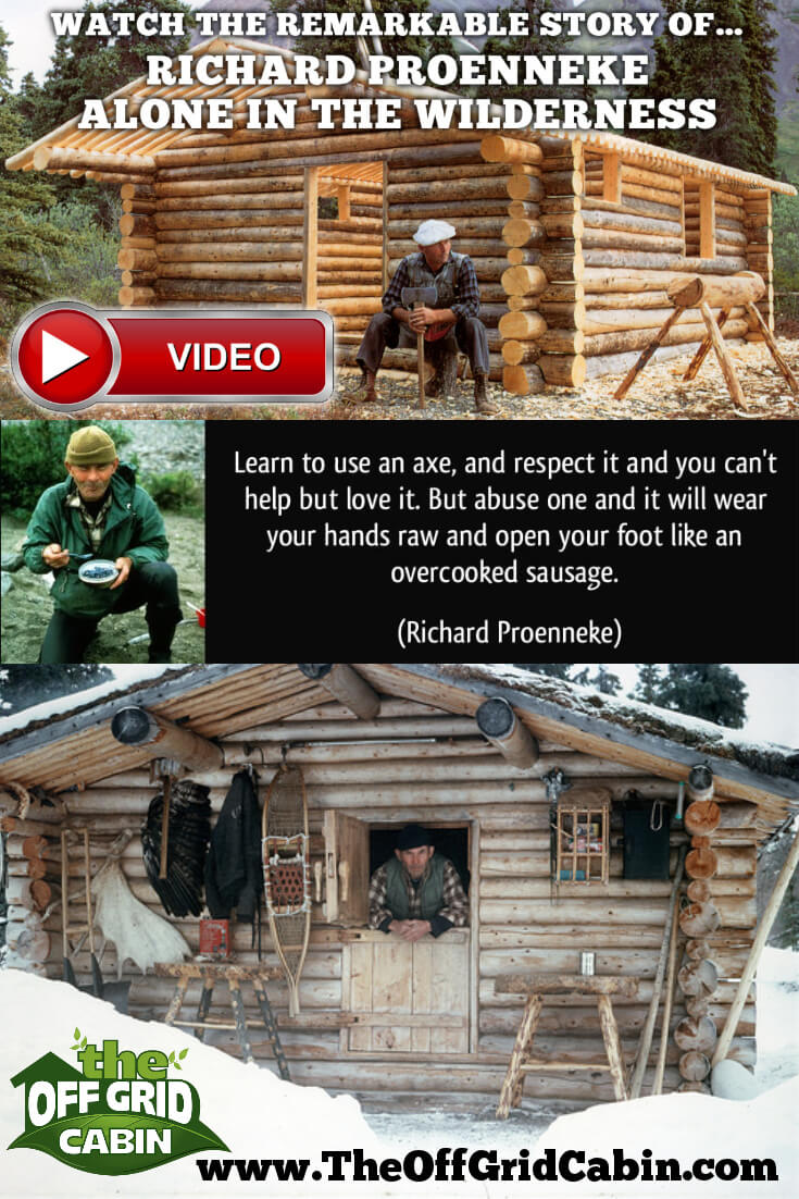 """Tiny Home Designs: Richard """"Dick"""" Proenneke: Alone In The Wilderness"""
