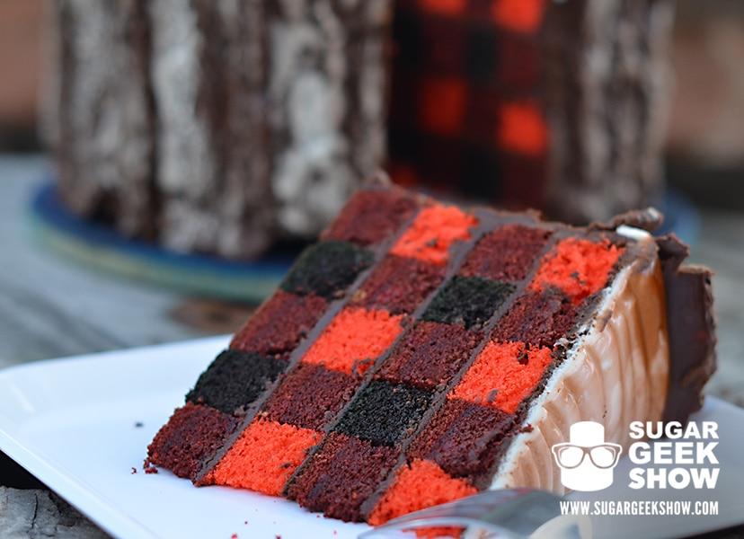 Lumber Jack Cake on plate