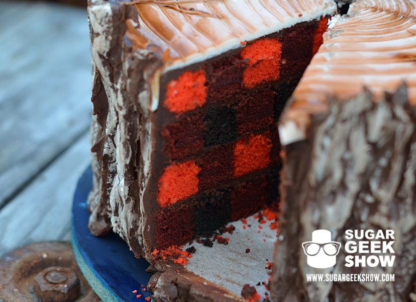 Lumber Jack Cake slice on plate