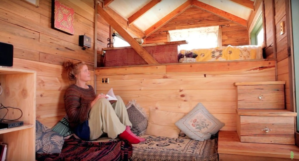 The Off Grid Handmade-House-Truck-Living-Room