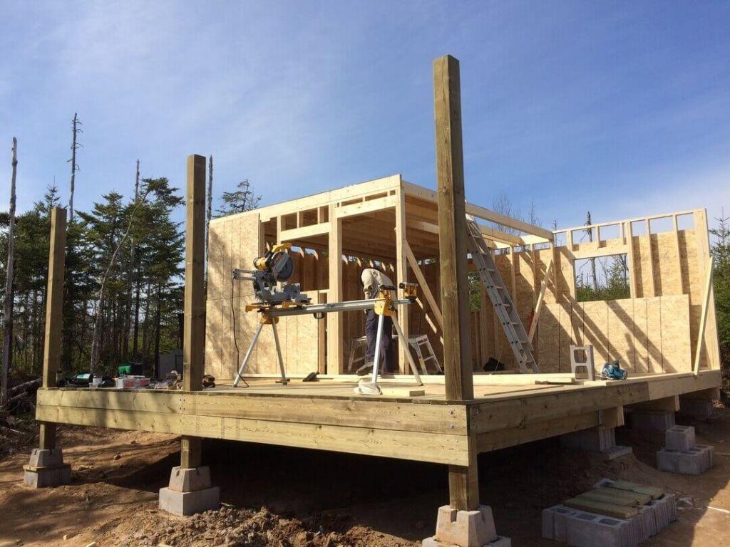 Framing The Cabin Loft Floor Plywood 2