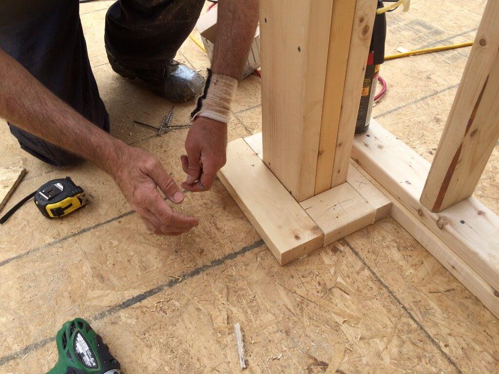 Framing the Main Center Support Beam Base 5