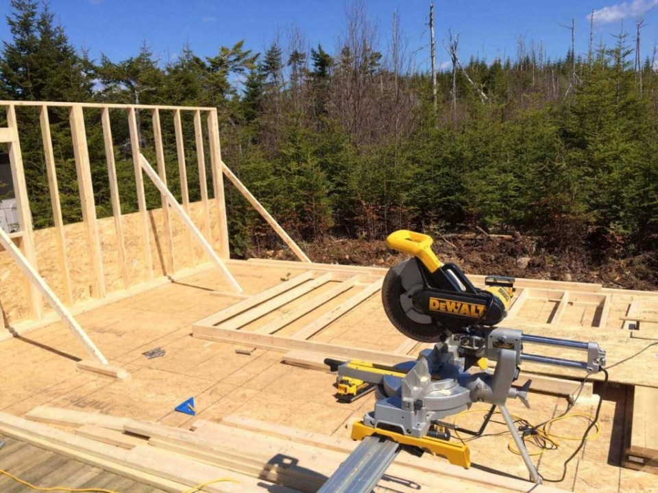 Framing-the-Off-grid-Cabin-Second-Wall-2