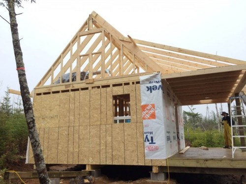 The-Off-Grid-Cabin-Gable-End-Framing-West-Side